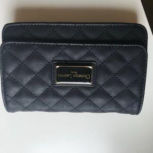 Black mini bag with strap